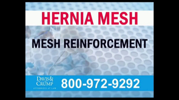 Davis & Crump, P.C. TV Spot, 'Hernia Mesh Complications' - Thumbnail 3