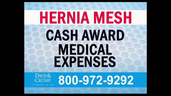 Davis & Crump, P.C. TV Spot, 'Hernia Mesh Complications' - Thumbnail 5