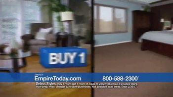 Empire Today Buy One Get One Free Sale TV Spot, 'Carpet, Hardwood, Tile' - Thumbnail 3