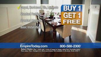 Empire Today Buy One Get One Free Sale TV Spot, 'Carpet, Hardwood, Tile' - Thumbnail 4