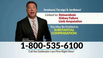 Goldwater Law Firm TV Spot, 'Invokana'
