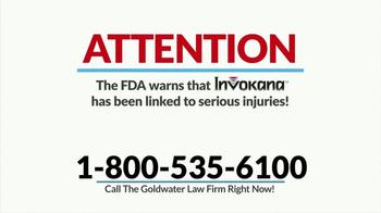 Goldwater Law Firm TV Spot, 'Invokana' - Thumbnail 1