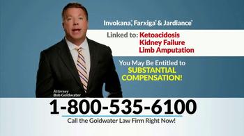 Goldwater Law Firm TV Spot, 'Invokana' - Thumbnail 3