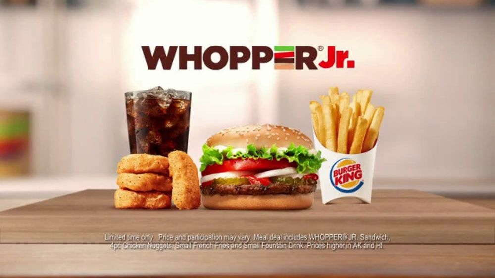 Burger King Whopper Jr Meal Deal TV Commercial Going Crazy