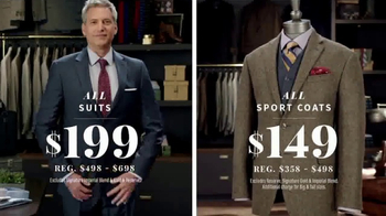 JoS. A. Bank After Christmas Sale TV Spot, 'Suits, Sport Coats & Clearance' - 536 commercial airings