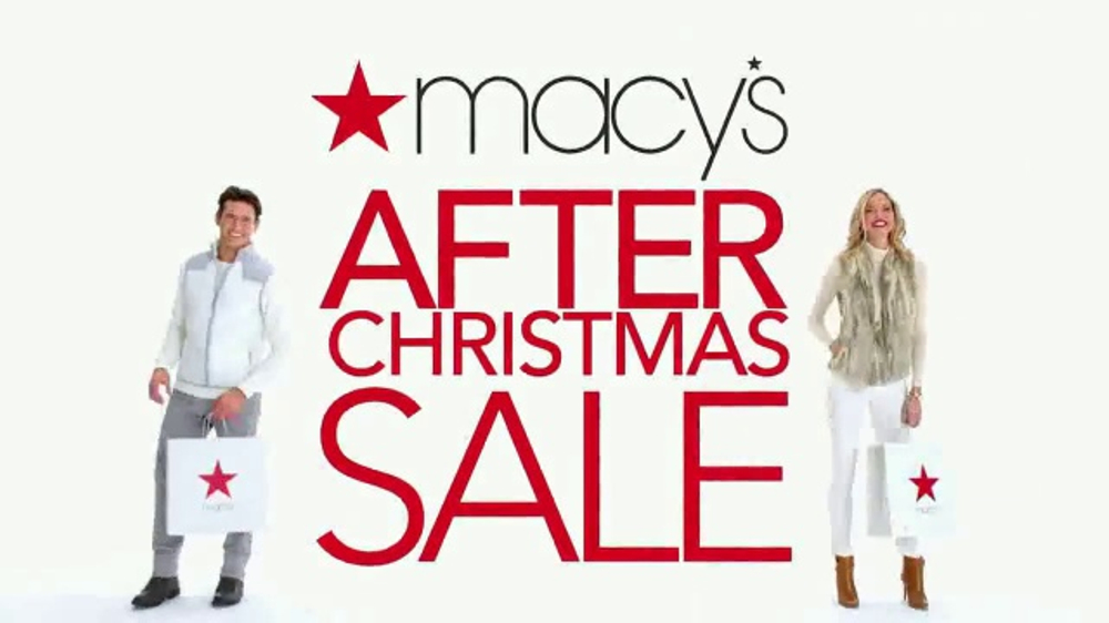 macy 39 s after christmas sale tv commercial 39 dresses jewelry underwear 39. Black Bedroom Furniture Sets. Home Design Ideas