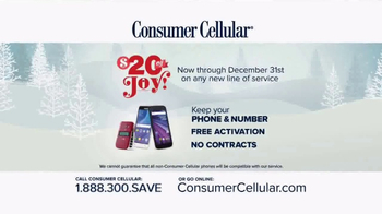 Consumer Cellular TV Spot, 'Better Value: Pie: Holiday $20 Credit: Plans $10+ a Month' - Thumbnail 7