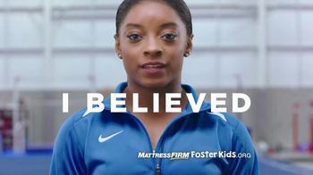 Mattress Firm Foster Kids TV Spot, 'Helping Reach Dreams' Ft. Simone Biles - 2 commercial airings