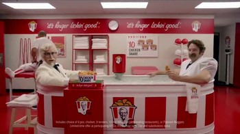 KFC $10 Chicken Share TV Spot, 'Ice Bath' Featuring Rob Riggle - 1728 commercial airings