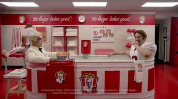 KFC $10 Chicken Share TV Spot, 'Ice Bath' Featuring Rob Riggle - Thumbnail 9