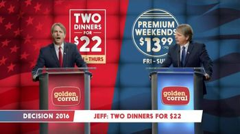 Golden Corral TV Spot, 'Decision 2016' Featuring Jeff Foxworthy - 4419 commercial airings