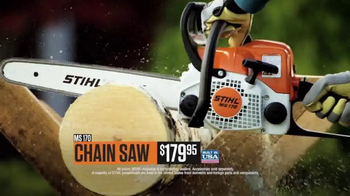 STIHL MS 170 Chainsaw & BG 50 Blower TV Spot, 'Warriors' - Thumbnail 6