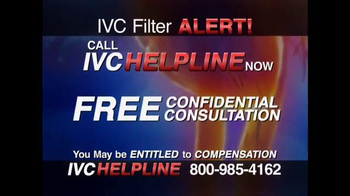 IVC Filter Helpline TV Spot, 'FDA Warning'