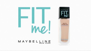 Maybelline New York Fit Me! Matte + Poreless Foundation TV Spot, 'Fit' - Thumbnail 1