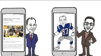 ESPN Fantasy Football App TV Spot, 'Cartoon' - 17 commercial airings