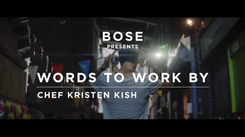 Bose QuietComfort 35 TV Spot, 'Words to Work By: Chef Kristen Kish' - Thumbnail 1