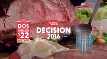 Golden Corral TV Spot, 'Decisión de Golden Corral 2016' [Spanish] - 147 commercial airings