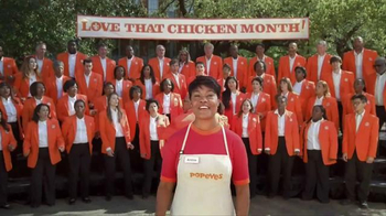 Popeyes Love That Chicken Month TV Spot, 'Singing' - Thumbnail 1