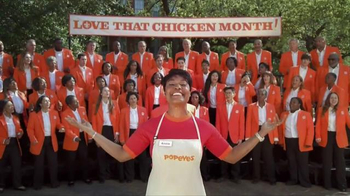 Popeyes Love That Chicken Month TV Spot, 'Singing' - Thumbnail 9