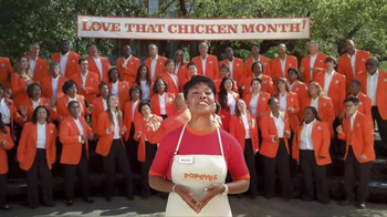 Popeyes Love That Chicken Month TV Spot, 'Singing' - Thumbnail 2