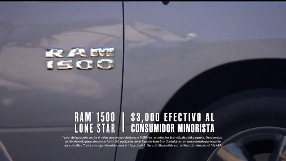 Ram Trucks Liquidaci??n de Verano TV Commercial, 'Texas Lone Star'