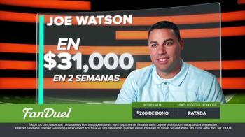 FanDuel.com Ligas de Una Semana TV Spot, 'Recompensas grandes' [Spanish] - Thumbnail 3