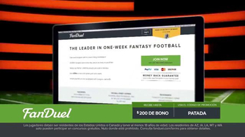 FanDuel.com Ligas de Una Semana TV Spot, 'Recompensas grandes' [Spanish] - Thumbnail 7