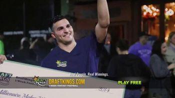 DraftKings Fantasy Football TV Spot, 'Giant Check'