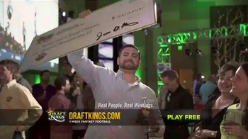 DraftKings Fantasy Football TV Spot, 'Giant Check' - Thumbnail 2
