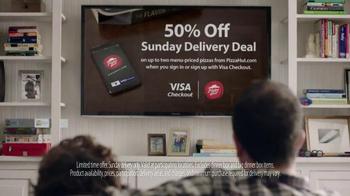 VISA Checkout TV Spot, 'Sunday Deal From Visa Checkout & Pizza Hut' - Thumbnail 2