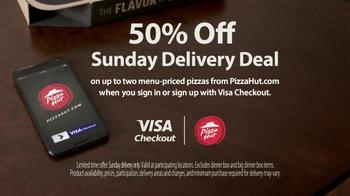 VISA Checkout TV Spot, 'Sunday Deal From Visa Checkout & Pizza Hut' - Thumbnail 6