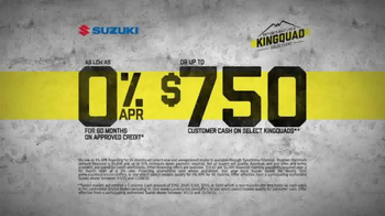 Suzuki Nothing's Built Like a KingQuad Sales Event TV Spot, 'Rugged' - Thumbnail 6