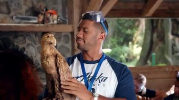 Alaska Airlines TV Spot, 'Woodcarving' Featuring Russell Wilson - 28 commercial airings