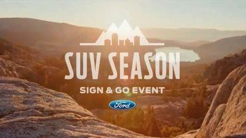 Ford SUV Season Sign & Go Event TV Spot, 'Be Unstoppable' - 214 commercial airings