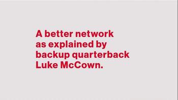 Verizon TV Spot, 'A Better Network: Backup Quarterback Luke McCown' - Thumbnail 1