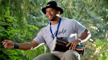 Alaska Airlines TV Spot, \'Drum Circle\' Featuring Russell Wilson