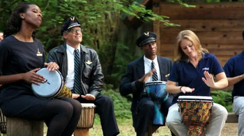 Alaska Airlines TV Spot, 'Drum Circle' Featuring Russell Wilson - Thumbnail 5