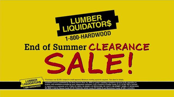 Lumber Liquidators End of Summer Clearance Sale TV Spot, 'Now is the Time' - Thumbnail 10