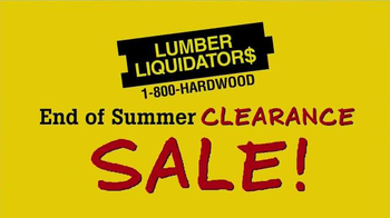 Lumber Liquidators End of Summer Clearance Sale TV Spot, 'Now is the Time' - Thumbnail 2