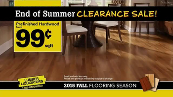 Lumber Liquidators End of Summer Clearance Sale TV Spot, 'Now is the Time' - Thumbnail 4