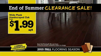 Lumber Liquidators End of Summer Clearance Sale TV Spot, 'Now is the Time' - Thumbnail 5