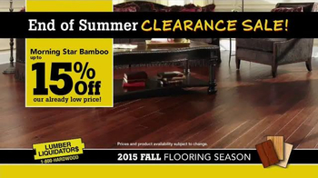 Lumber Liquidators End of Summer Clearance Sale TV Spot, 'Now is the Time' - Thumbnail 7