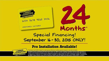 Lumber Liquidators End of Summer Clearance Sale TV Spot, 'Now is the Time' - Thumbnail 9