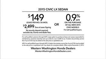 2015 Honda Civic TV Spot, 'Spelled Out' - Thumbnail 9