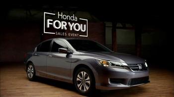 2015 Honda Accord TV Spot, 'Honda For You' - Thumbnail 2