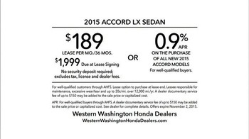 2015 Honda Accord TV Spot, 'Honda For You' - Thumbnail 9
