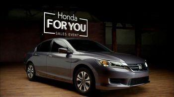 2015 Honda Accord TV Spot, 'Honda For You'