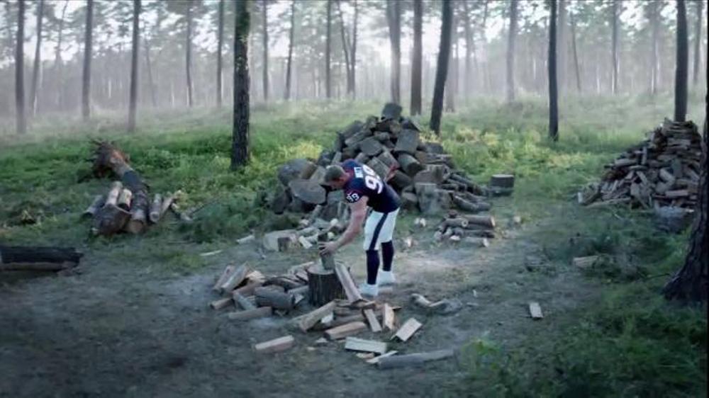 Verizon TV Commercial, 'A Better Network as Explained by J.J. Watt Chopping Wood'