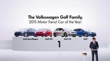 2015 Volkswagen Golf TV Spot, 'Bigger Podium' - Thumbnail 8