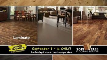 Lumber Liquidators TV Spot, '2015 Fall Flooring Season: Fall Laminates' - Thumbnail 3
